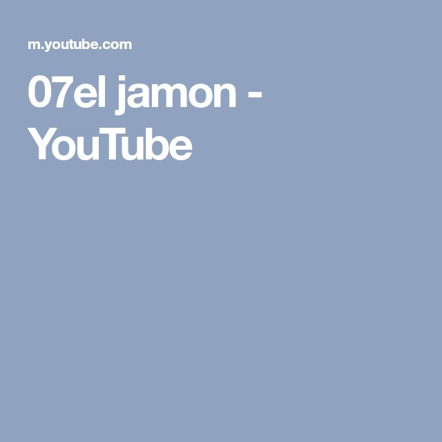07el jamon - YouTube