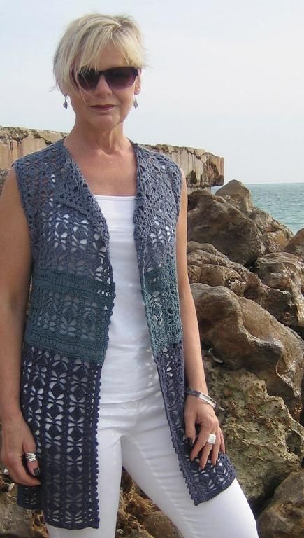 Looking for your next project? You're going to love Crocheted Vest by designer stitchandstash.