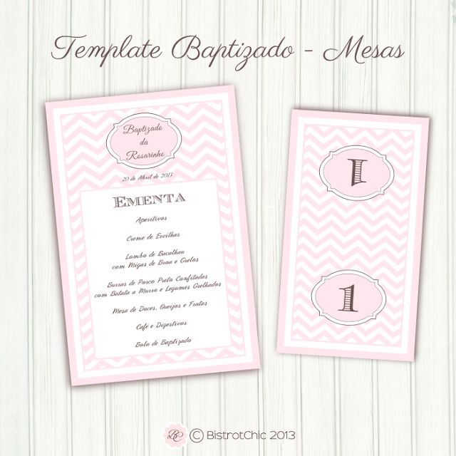 Pink Chevron for a personalized Baptism