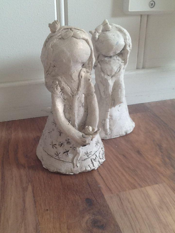 Disse er laget av kjeramikk. De lagde jeg da jeg var 8 og 9 år.