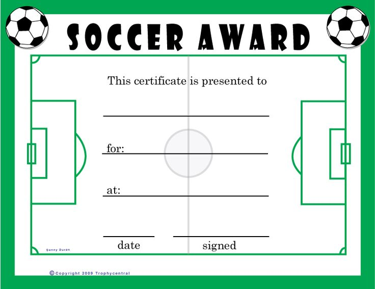 soccer certificate awards gse bookbinder co