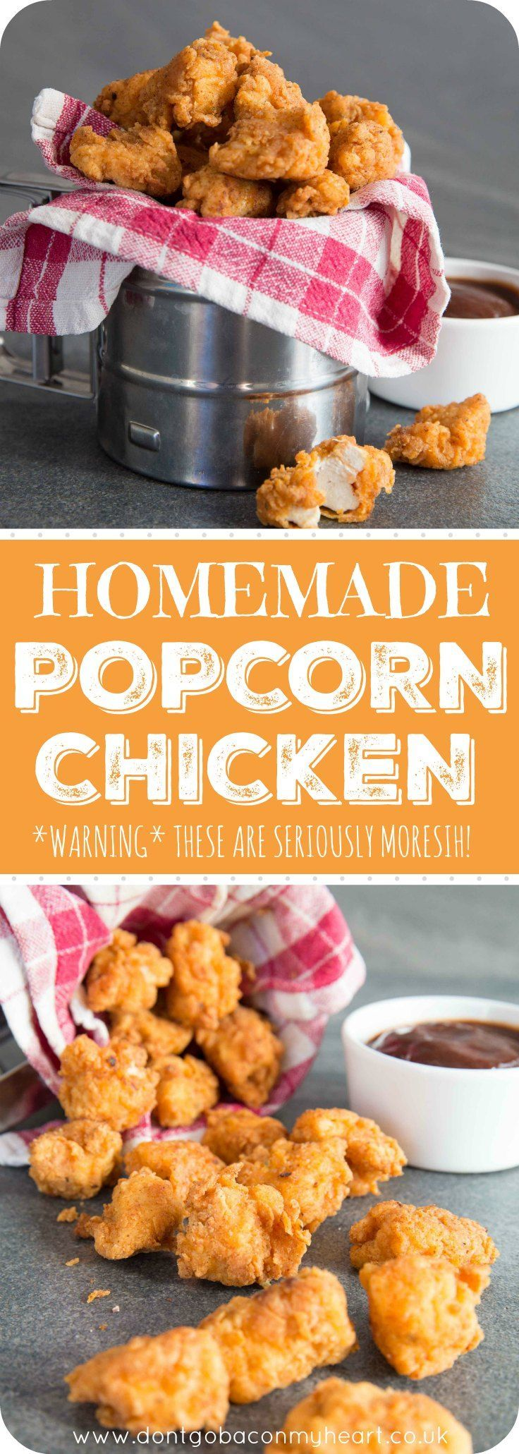 Homemade Popcorn Chicken Pin