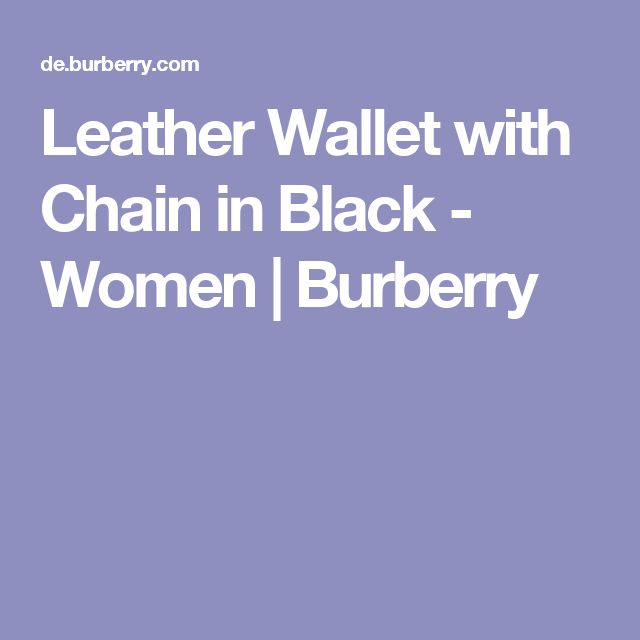Leather Wallet with Chain in Black - Women | Burberry