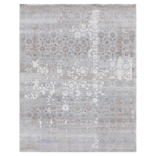 Gisella Global Bazaar Moroccan Pattern Distressed Blue Taupe Rug - 8' x 10'