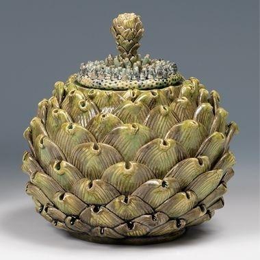 Kate Malone: An Artichoke Box With Dream Flower Lid