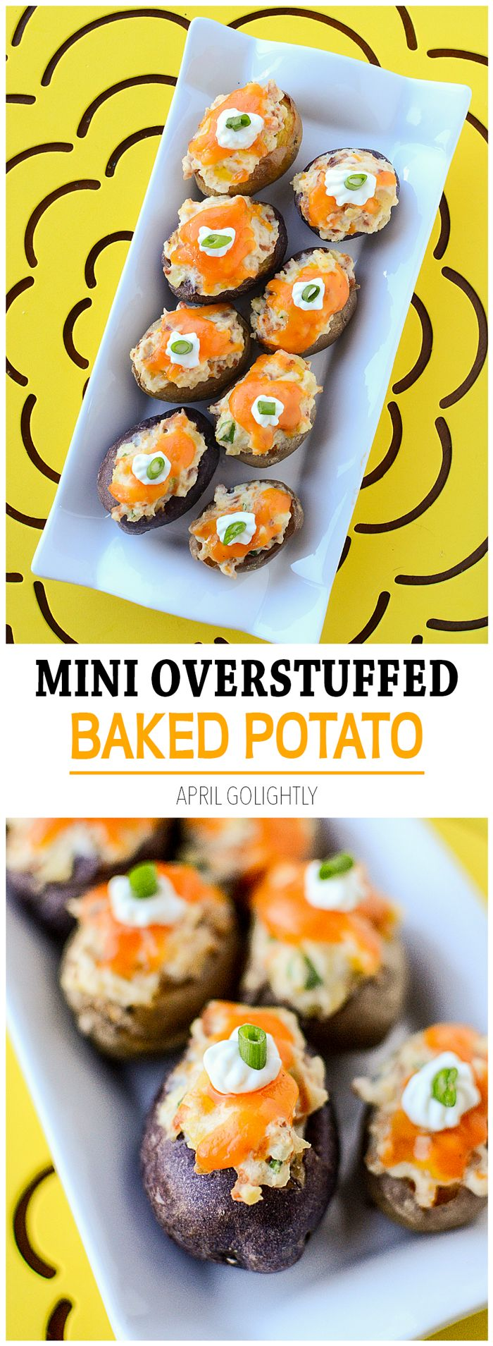 Mini Overstuffed Baked Potato Recipe made with twice baked potatoes ...