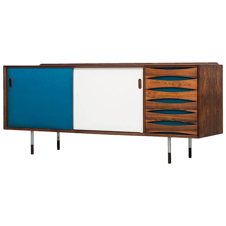 Arne Vodder Sideboard Model 29 by Sibast in Denmark | From a unique collection of antique and modern sideboards at https://www.1stdibs.com/furniture/storage-case-pieces/sideboards/
