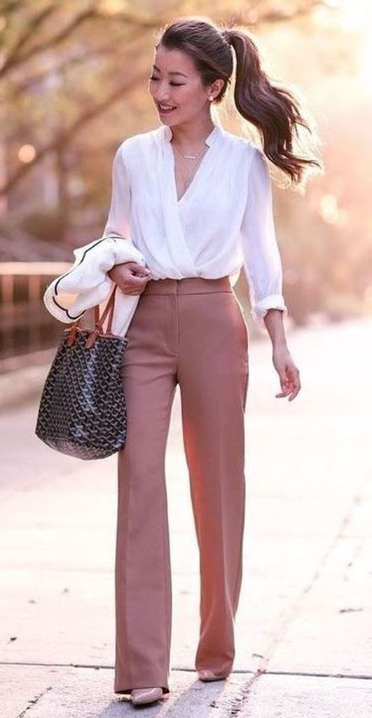 35 Casual Spring Work Outfits Combination for Wome…