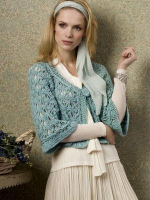 nice cropped crochet jacket, free pattern, s,m,l,xl,xxl,xxxl