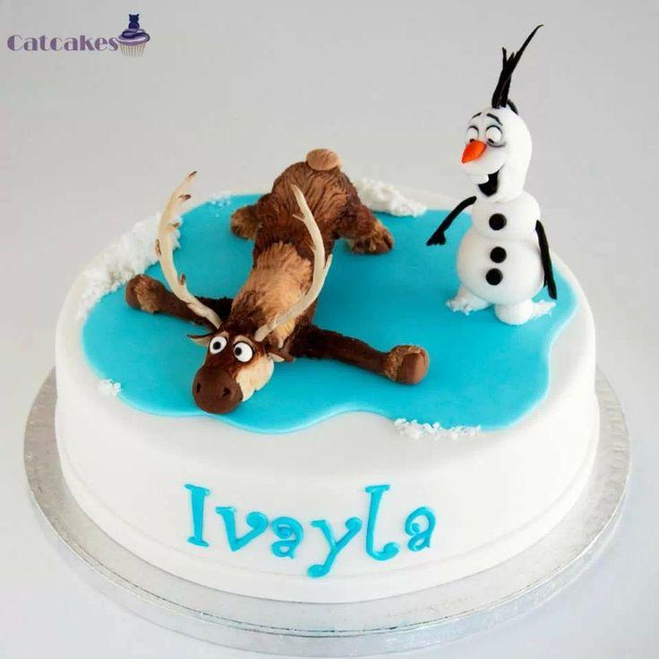 Tarta fondant, frozen, de Catcakes Fondant Pinterest ...