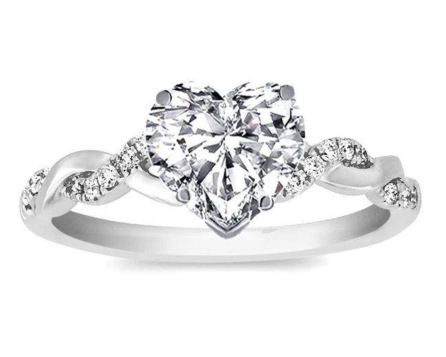 Wedding Rings Ideas Page 46 - Heart Shaped Wedding Ring Set. Camo ...