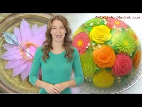 Find out the basics of Gelatin Art in this video. Learn how these beautiful desserts are made.  GelatinArtMarket.com