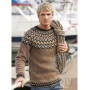 Riddari: Brown Sweater Pattern Kit
