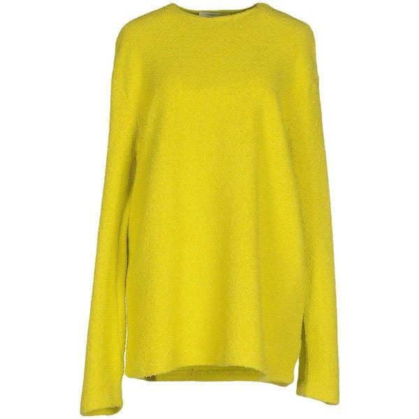 Thomas Tait Sweatshirt (5.085 RUB) ❤ liked on Polyvore featuring tops, hoodies, sweatshirts, acid green, long sleeve sweatshirts, yellow long sleeve top, yellow top, green sweatshirt and green long sleeve top