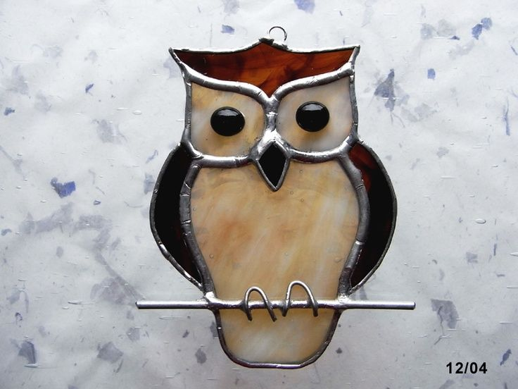 Stained Glass Owl - would make a cute night light!