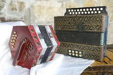 Antique Hohner Piano Accordion + Nightingale Squeezebox~1900s~As Is