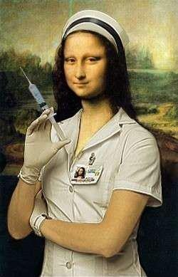 It will only hurt for a moment. -Ginn Mona Lisa