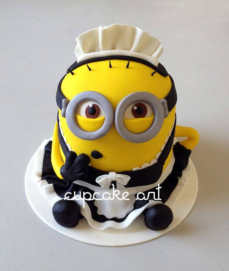 Minion Cake by Cupcake Art, Jalisco, Mexico. You'll find this Cake Appreciation Society Member in our Directory at www.cakeappreciationsociety.com