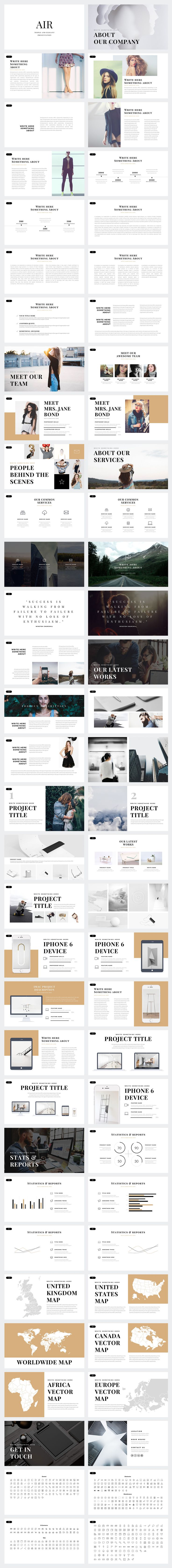 Air Minimal PowerPoint Template by Slidedizer on @creativemarket