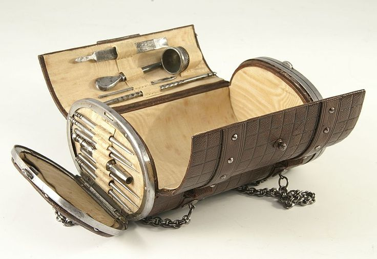 """1880 Leather sewing """"purse"""""""