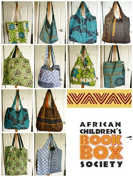 Project - Tote bags made with Tanzanian fabric for a worthwhile cause | africanbookbox.org