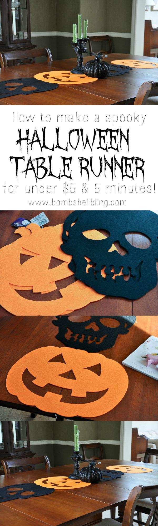 Chemin de table halloween à faire en papier