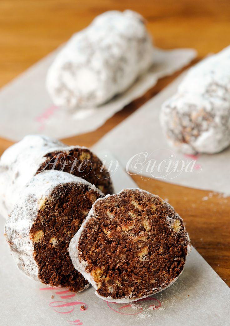 Mini salamini al cioccolato ricetta dolcetti vickyart arte in cucina