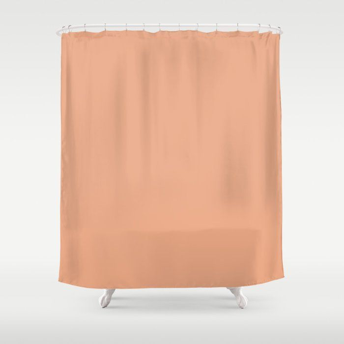Solid Color Pantone Coral Sand 14 1224 Peach Tan Shower