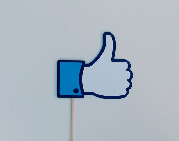 Facebook Like Sign Photo Booth Prop by TOASTEDProps on Etsy, $6.00