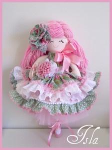 Trellis Design  Handmade Doll...Isla