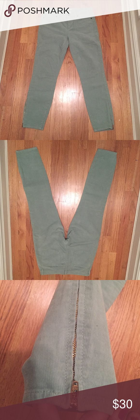 JCREW mint green corduroy pants J. Crew mint green corduroy pants. Only worn a few times and are in excellent condition. J. Crew Pants Ankle & Cropped