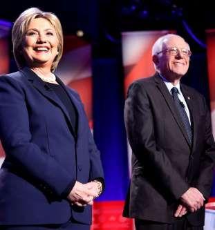 Democratic presidential candidates Hillary Clinton, left, and Sen. Bernie Sander... - Jim Cole/AP Photo