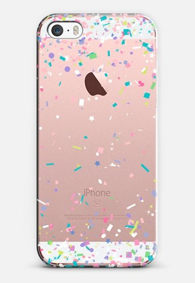 Pastel Spring Confetti Explosion iPhone SE case by Organic Saturation | Casetify