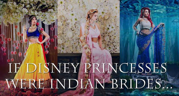9 Stunning Photographs That Reimagine Disney Princesses As Indian Brides