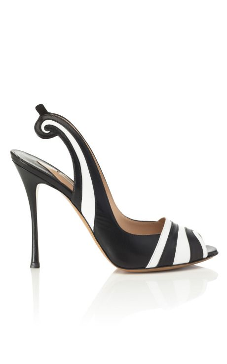 These are the kind of shoes I wear in my dreams. (Nicholas Kirkwood Swirl Slingback Sandal)