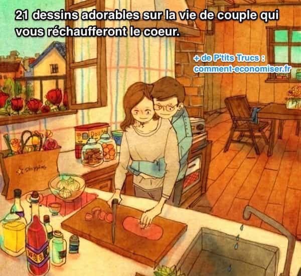 L'artiste coréen Puuung est un dessinateur qui sait montrer l'amour avec simplicité et romantisme. Dans son oeuvre, il capture parfaitement ce sentiment d'harmonie que l'on ressent en couple lorsque l'on est amoureux.  Découvrez l'astuce ici : http://www.comment-economiser.fr/21-dessins-adorables-sur-couple-qui-vous-rechaufferont-coeur.html?utm_content=buffer56d73&utm_medium=social&utm_source=pinterest.com&utm_campaign=buffer
