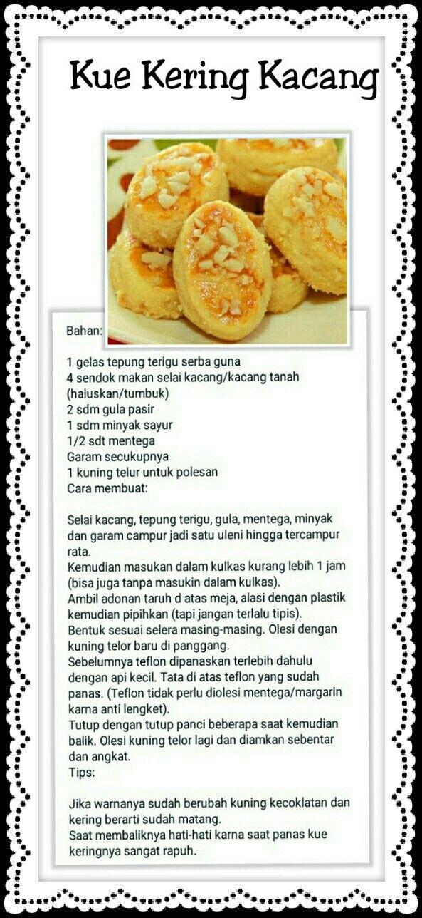 Resep Kue Kering Makanan Dan Minuman Makanan Resep Makanan Penutup