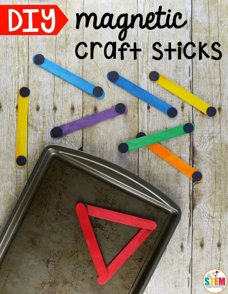 DIY Magnetic Craft Sticks. What an awesome way to work on shapes, patterns... even alphabet letters. This would be an awesome math center or STEM box.