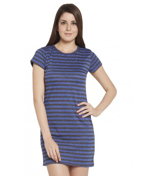 Multi casual shift dress. Casual, cool, and simple, this blue dress from the house of Globus is a must have. The dress has a beautiful striped pattern all over and looks smart when adorned at casual parties. It has a round neck and is sleeveless. #women #onlineshopping #india #clothing #fashion #indianfashion #onlinestore #clothingstore #globusfashion #western #ethnic #casual #dress