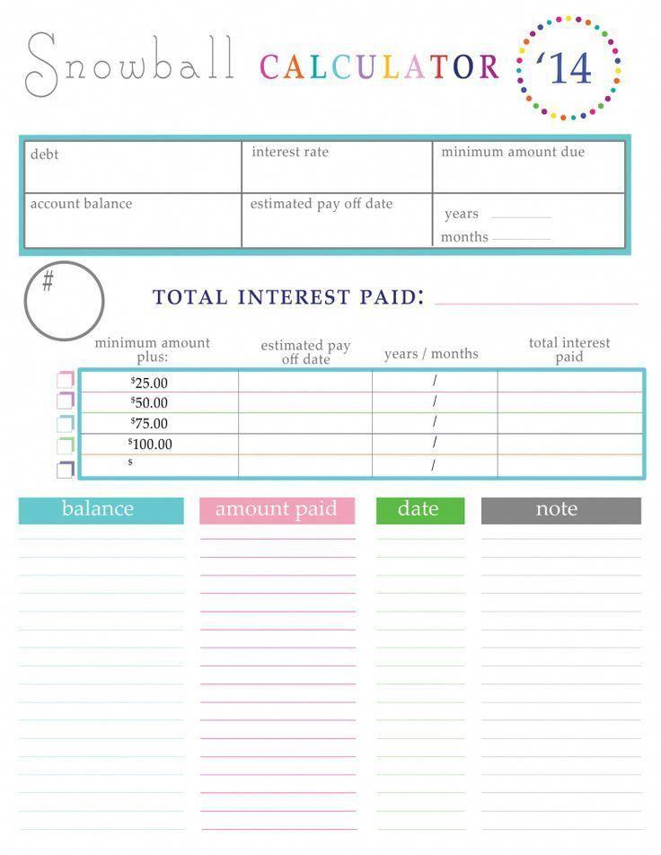 Paying off Debt Worksheets Debt Relief Tips Pinterest