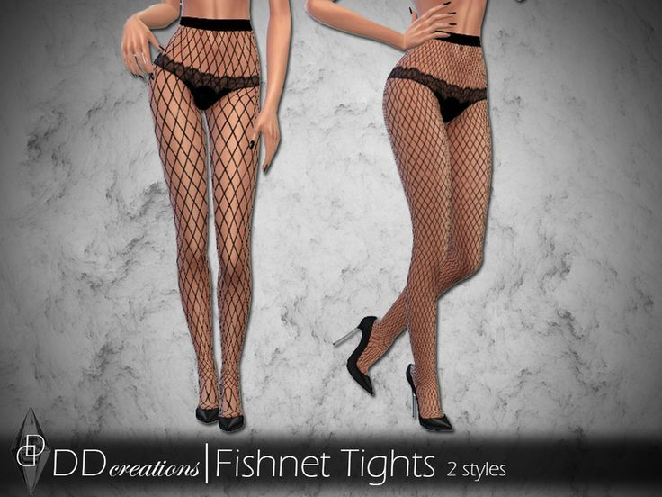 Highwaisted Fishnet Tights in 2 styles Found in TS…