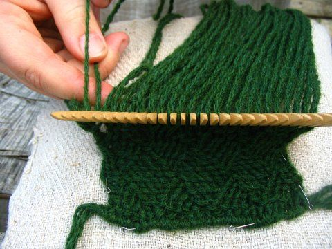 The ancient craft of comb weaving.