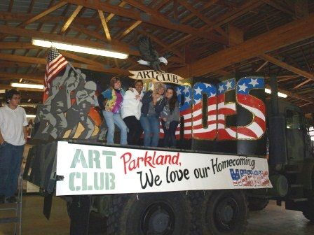homecoming floats for high school | Parkland High School Art Club Wins Homecoming Float Contest