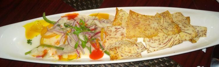 Ceviche. Restaurant Casa Blanca