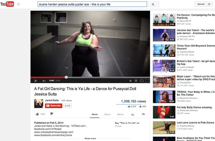 "1 million views: Congratulations to #WhitneyWay Thore: No Body Shame Campaign ""Fat Girl Dancing"" to #DuaneHarden, #JessicaSutta & #JupiterAce #ThisIsYaLife off of the #NB4U album for #NoBodyShameCampaign. Inspiring everyone to #LoveYourself"
