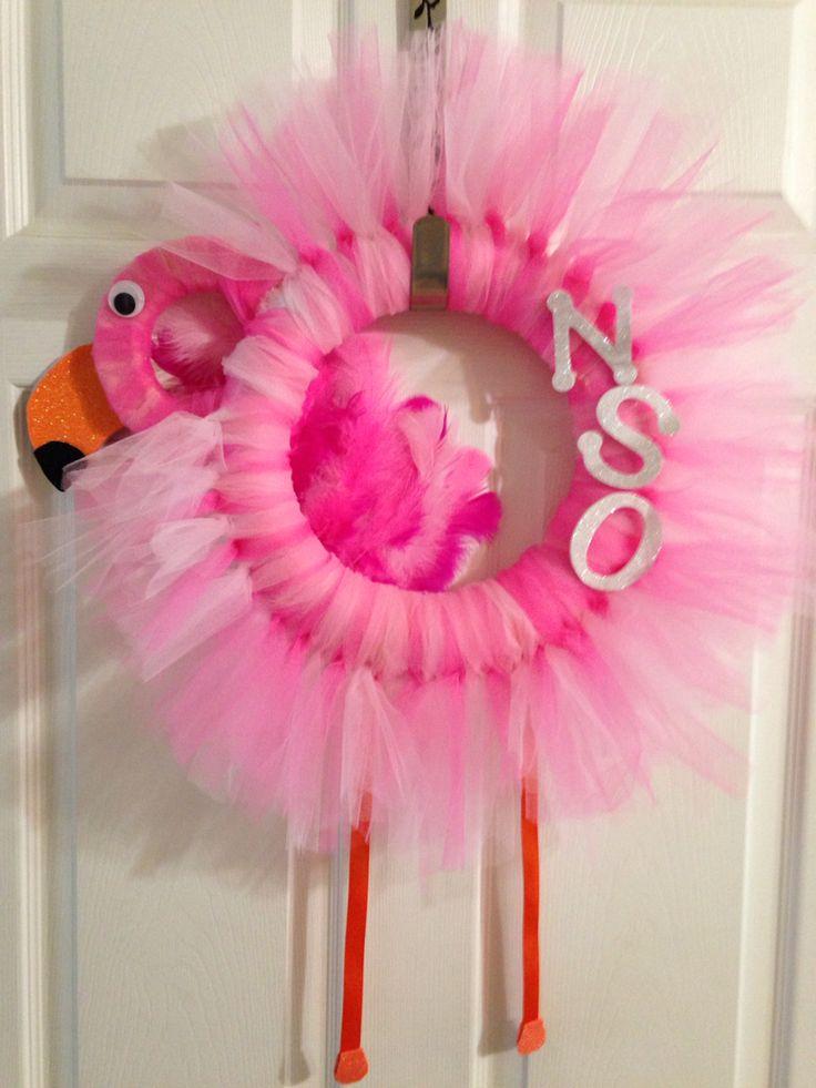 roller derby nso award pink flamingo wreath derby pinterest pink flamingos pink and. Black Bedroom Furniture Sets. Home Design Ideas