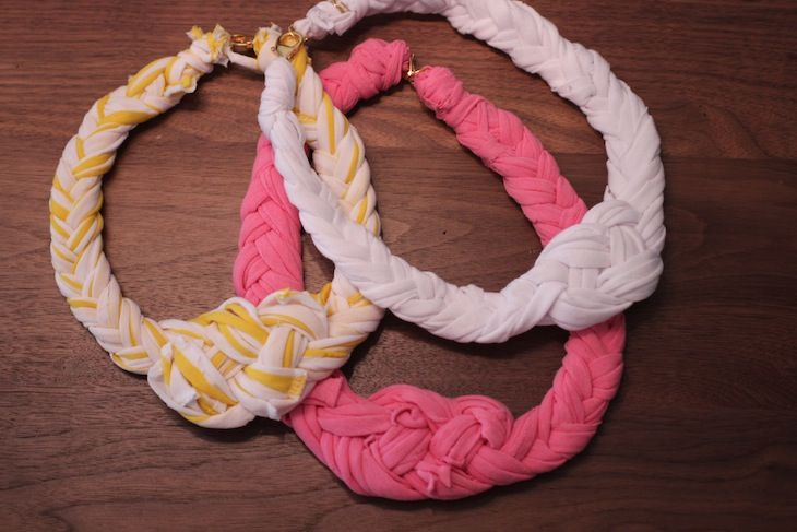 Braided t-shirt necklace by Stripes + Seqins & Refinery 29