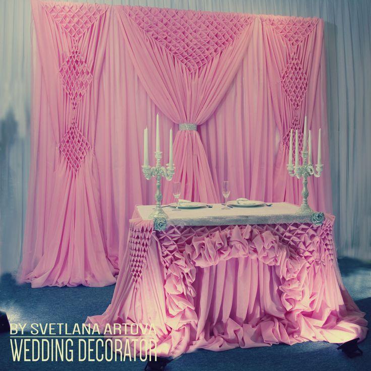 Калининграде, обучение свадебному декору. Шикарная свадьба. Драпировка, свадебная драпировка, флористика, президиум