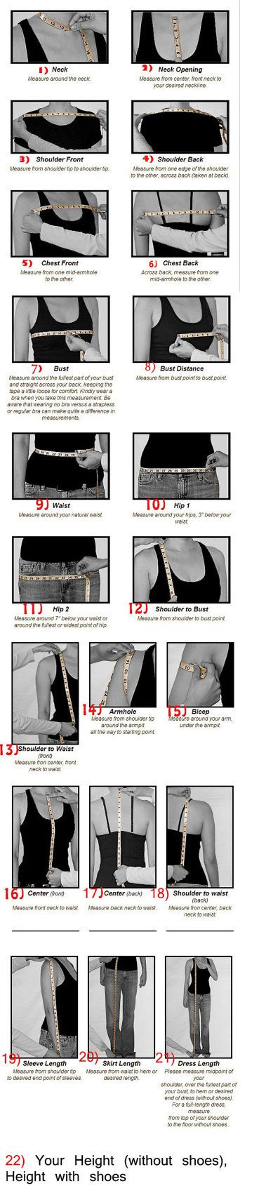 Measurement tipsDress by RenzRags on Etsy, $1.00