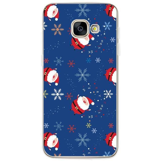 Christmas Phone Case for Samsung Galaxy S4 S5 S6 S7 Edge S8 Plus A3 A5